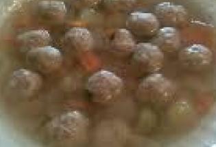 minestra con polpettine