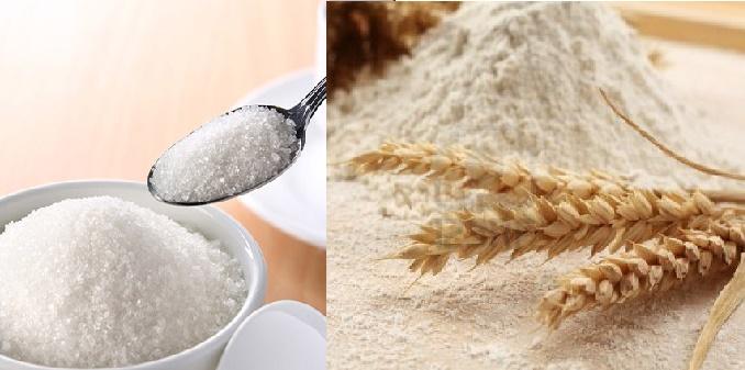 zucchero e farina