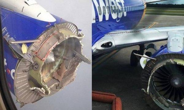 TERRORE IN VOLO – motore aereo esplode e perde pezzi: panico a bordo per 99 passeggeri