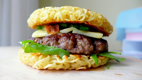 hamburger di spaaghetti
