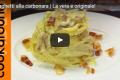Spaghetti alla carbonara | La vera e originale!