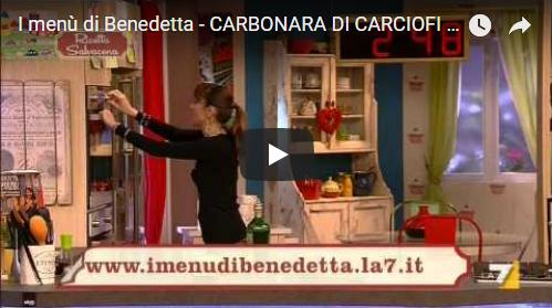 I menù di Benedetta – CARBONARA DI CARCIOFI E CARPACCIO SCOTTATO